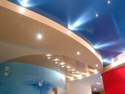 Натяжные потолки г.Киселевск, сатиновые натяжные потолки, глянцевые натяжные потолки
